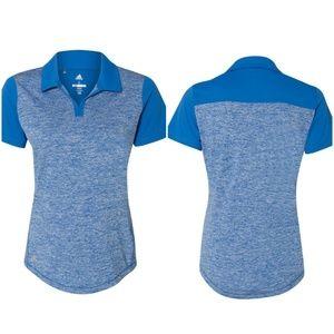 Adidas, NWT PureMotion Golf Polo Heathered Blue, M